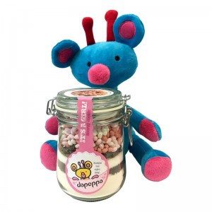 Dapeppa knuffel + It's a girl koekjespot.